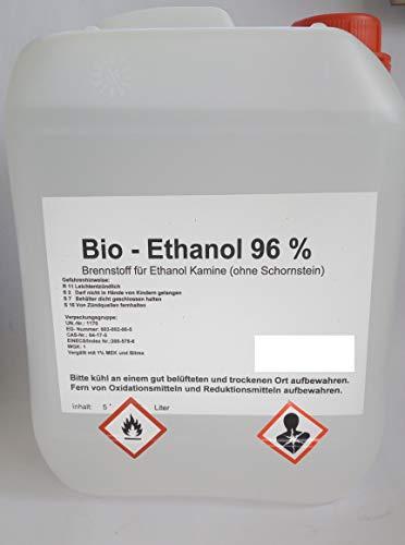 Bio Ethanol 96{8dc51c93eb2438ea54688470dace8ff9efb5a690f5df735a0380f535cad4fe97} im Kanister 5 Liter