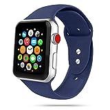 Tech-Protect Armbänder für Apple Watch 38mm & 40mm, Iconband Kompatibel mit iWatch Series SE/6/5/4/3/2, Sport Armband, Weiche Silikon Ersatz, Dunkelblau