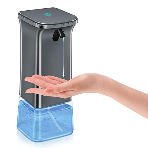 Reesibi Automatischer Seifenspender, 350ml berührungslos Desinfektionsspender mit 2 Einstellbare Gelmenge Gelseifenspender Pump Shampoo- und -Spülmittel Spender für Bad, Küchen, Hotel