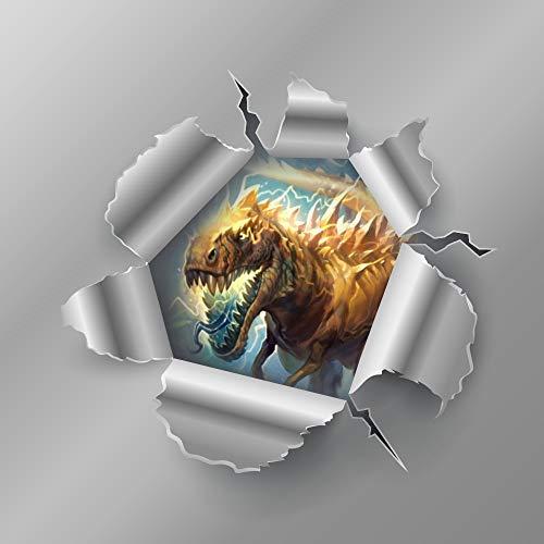 Calcomanías de vinilo para coche de Warcraft con diseño de dinosaurio y...