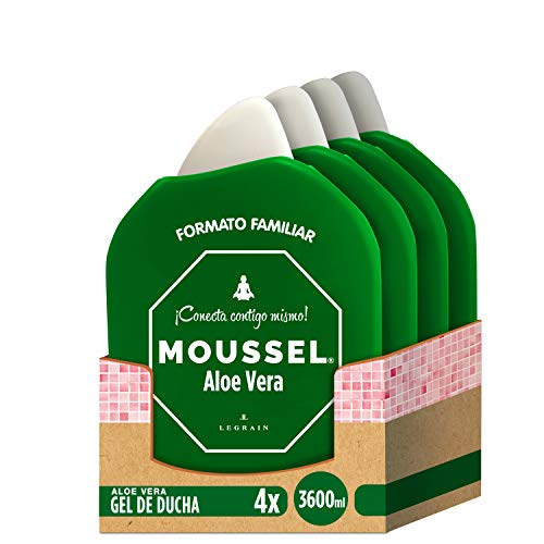 Moussel Gel Ducha Aloe Vera - Pack de 4 x 900 ml - Total: 3600 ml