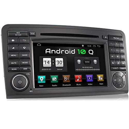 XOMAX XM-09ZA-L9 Autoradio mit Android 10 passend für Mercedes W164 I 2GB RAM 32GB ROM I GPS Navigation I DVD, CD, USB, SD I Support: WiFi, 3G, 4G, DAB+, OBD2 I Bluetooth I 7 Zoll / 18 cm Touchscreen