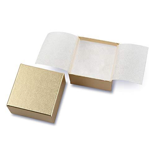 井上紙業 ジュエリー (アクセサリー)用 ギフトボックス 小 [ ゴールド/20箱 ] 箱 ラッピング ボックス プレゼント (誕生日/クリスマス/バレンタイン/ホワイトデー) 7300