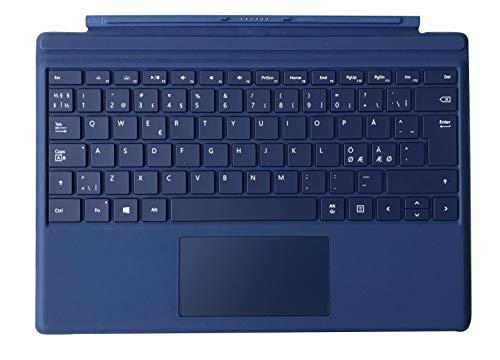 Microsoft Surface Pro 4Type Cover Cover Port QWERTY Dänisch, Finnisch, Norwegisch, Schwedisch Blau Tastatur für Mobilgerät