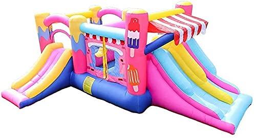 Castillo hinchable inflable, colchón de aire grande para niños, cama, trampolín, castillo de fiesta, tobogán inflable travieso al aire libre, toboganes de agua para jardín, castillo hinchable para ni