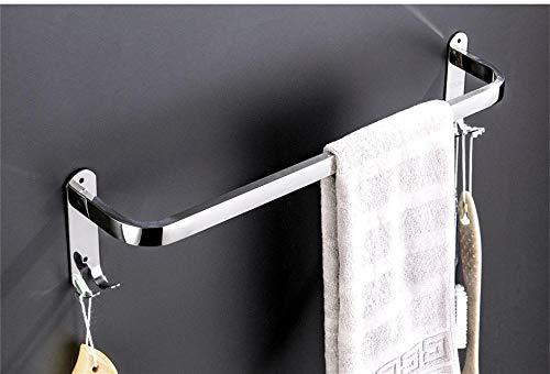 Toallero de acero inoxidable para el hogar, baño, barra única, toallero, hotel, toallero-58cm