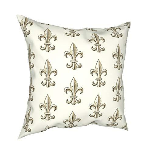 Reebos Fundas de almohada, elegantes flores de Lis para el hogar, fundas de cojín cuadradas para sofá, sala de estar, cama de 45,7 x 45,7 cm