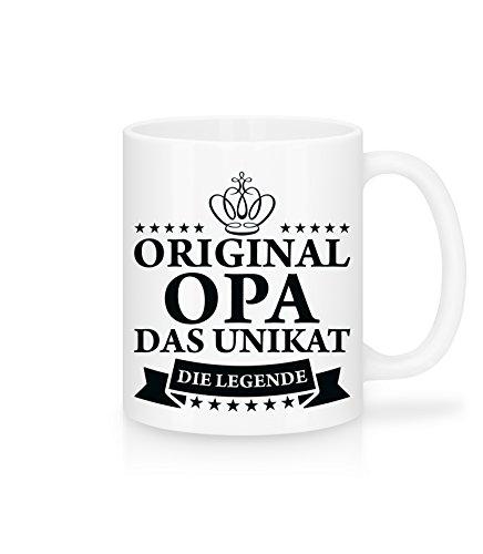 Shirtinator Geschenk-Tasse für Opa I Original Opa Das Unikat Die Legende I Vatertag Geschenkidee-n Opi Vatertagsgeschenk