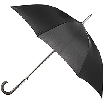 totes Auto Open Water-Resistant Stick Umbrella Black