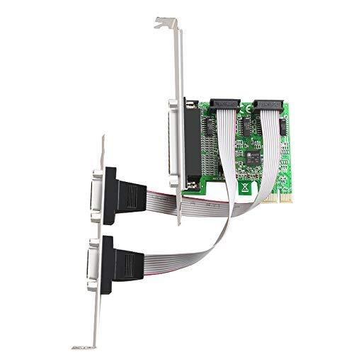 CENPEN PCI-Erweiterungskartenkonverter auf Dual RS232-232 serielle Ports COM & DB25 Drucker Parallel Port LPT