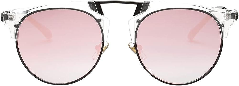 Small Round Retro Trendy Fashion Style Polarized Colorful Sunglasses Eyewear