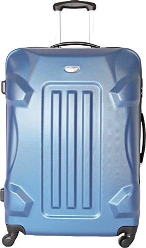 TROLLEY ADC Valise Trolley Grande 4 Roues 75cm Rigide Abs Robot (Bleu)