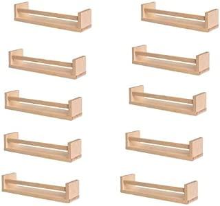 Ikea 10 Wooden Spice Racks Accessory Storage Organizer, Birch Natural Wood