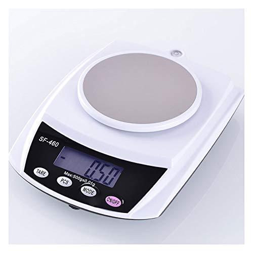YZSHOUSE Balanza De Cocina, 0.1 G Alta Precisión Casa Escala Electrónica para Horneando Té Comida Peso