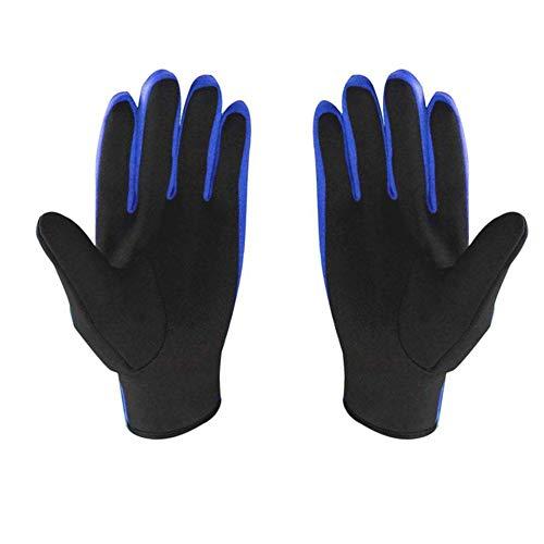 Liadance Agua Snorkeling Guantes Guantes de 1,5 mm Espesor de los Deportes acuáticos Estiramiento Vela Surf Azul L