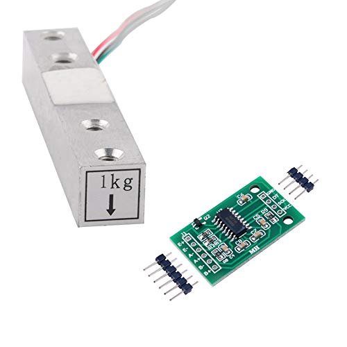 Wägezelle 1 KG Verstärker HX711 Breakout, digitale tragbare Küchenwaage Gewichtssensor AD-Modul Wiegen für Arduino Raspberry Pi