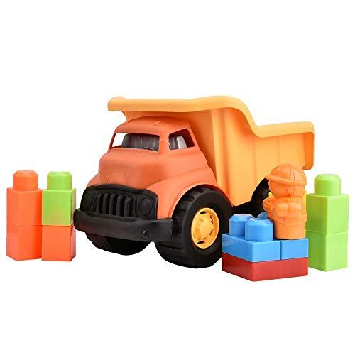 Vehículos de construcción Juguetes, Camión volquete de construcción Juguete Mini modelos de autos Camiones de juguete, Ensamblaje de bloques de construcción Vehículo de juguete para niños niñas de 3 a