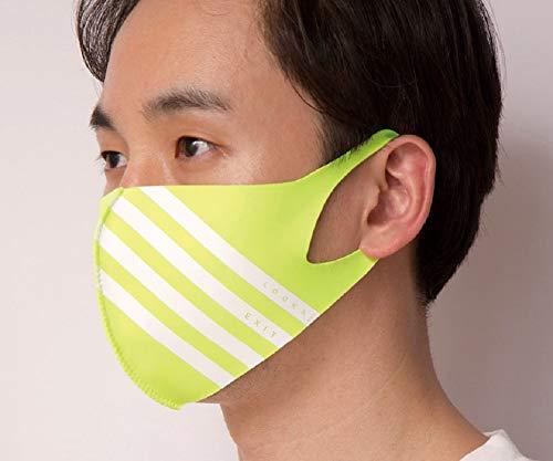 【LOOKA ルカ】デザイン マスク UV 花粉症 インフルエンザ 対策 繰り返し 洗える 蒸れない 肌荒れしない 個包装 黒 ファッション Mサイズ Sサイズ 男女兼用 (NEONGREEN, M)