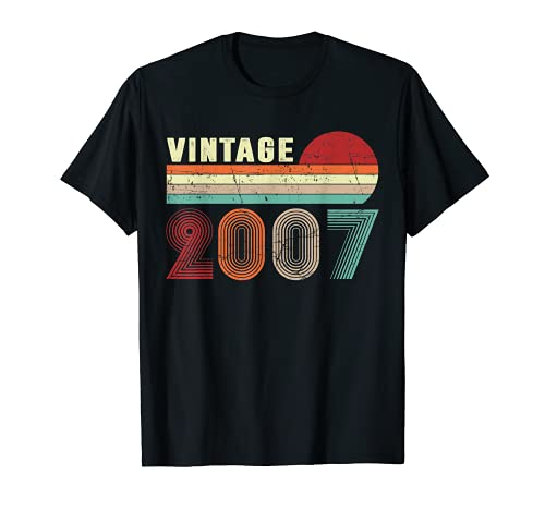 Vintage 2007 Funny 14 Years Old Boys and Girls 14th Birthday T-Sh