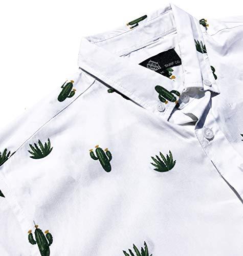 M MOLOKAI SURF Official Molokai Shirts (Desert Cactus, Medium)