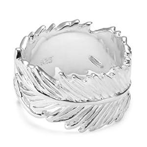 Vinani Ring Feder Arizona glänzend massiv Sterling Silber 925 RFE