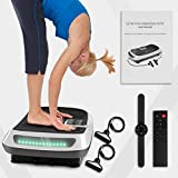 Bigzzia 3D Dual Motor Vibration Plate Exercise Machine - Oscillation, Vibration + 3D Motion Vibration Platform with Bluetooth Speakers and Huge Anti-Slip Surface for Home Gym Workout (White-3D)