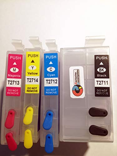 WF-7720 WF-7210 Set di cartucce ricaricabili serie 27XL per stampanti Epson.