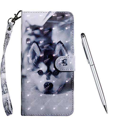 TOUCASA für LG K40S Hülle, Handyhülle Brieftasche PU Leder Flip [3D] Hülle Magnetverschluss Handytasche Klapphülle Tasche Lederhülle Schutzhülle (H&)