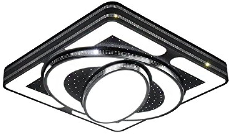 SAILUN 54W LED Moderne Deckenleuchte Schwarz Deckenlampe Kaltwei Kreative Energiesparlampe für Flur Wohnzimmer Schlafzimmer Küche Büro (54W Kaltwei,Schwarz)