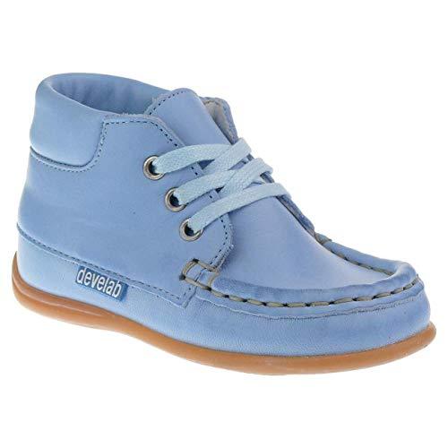 Develab -die Lauflernschuhe- Leder Lederfutter weich biegsam Schnürer in 5 Farben Gr.21-24 hellblau EUR 23