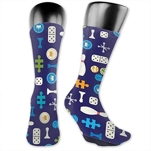 Preisvergleich Produktbild Miscellaneous Old Board Game Herren Wandersocken Sportsocken Feuchtigkeitstransport Kissen Crew Socken für Trekking,  Outdoor-Sport,  Performance