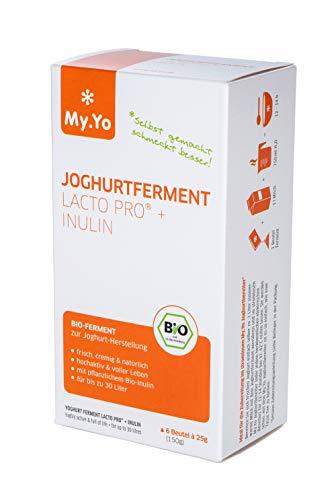 My.Yo - Bio Joghurtferment Lacto Pro + Inulin | 6x25 gr | Ferment für bis zu 30 L selbst gemachten Joghurt