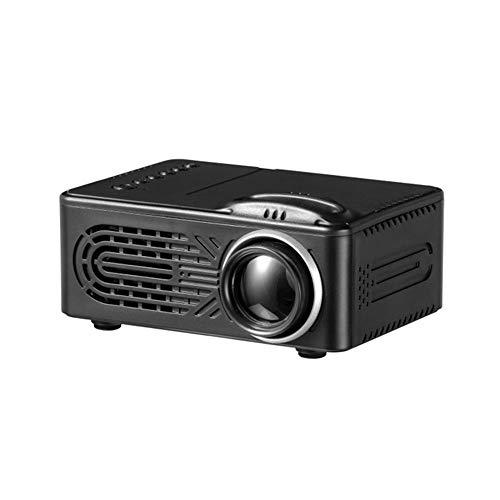 FENGCLOCK Mini-Projektor, 1080P Und 80 \'\' Display Unterstützt, Tragbarer Filmprojektor 20.000 Std Beamer Eingebauter Lautsprecher Kompatibel Mit Tv Stick, Ps4, Hdmi, Vga, Tf, Av Und USB,Schwarz