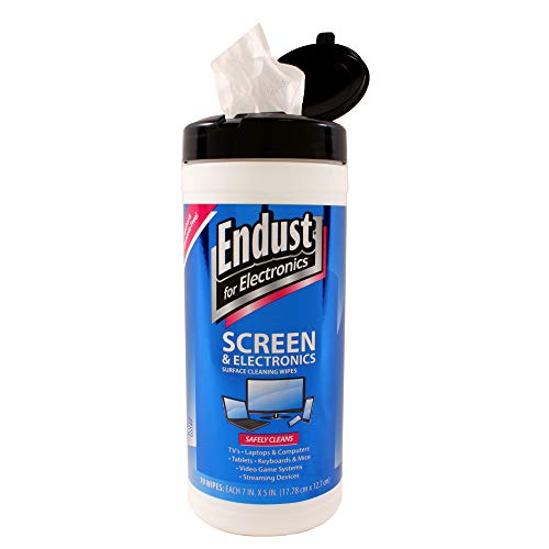 Endust for Electronics Surface cleaning wipes Great LCD and Plasma wipes 70 Count 11506