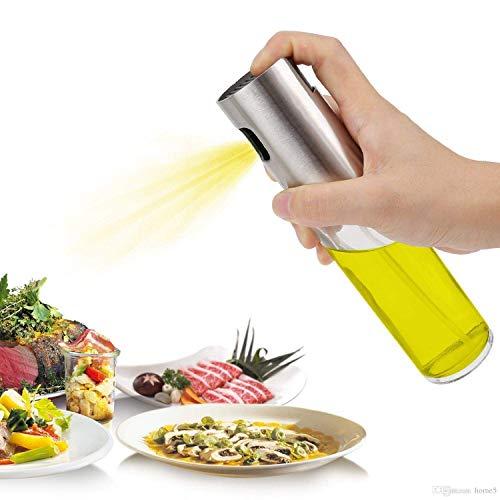 FLY Group Oil Sprayer, Food Grade Stainless Steel Glass Oil Spray Bottle Vinegar Bottle Oil Dispenser for Cooking, Salad, BBQ, Kitchen Baking