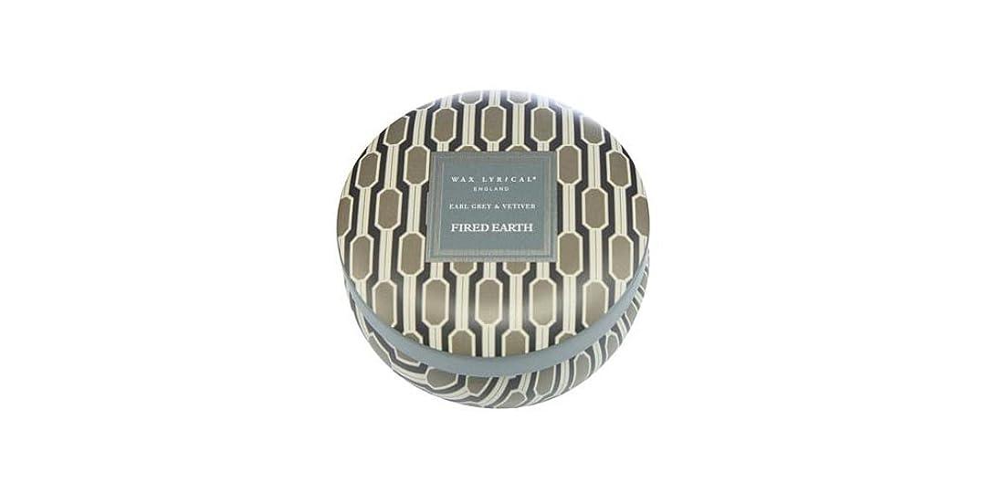 言及する唯一なにWAX LYRICAL ENGLAND FIRED EARTH 缶入りキャンドル アールグレー&ベチバー CNFE0807