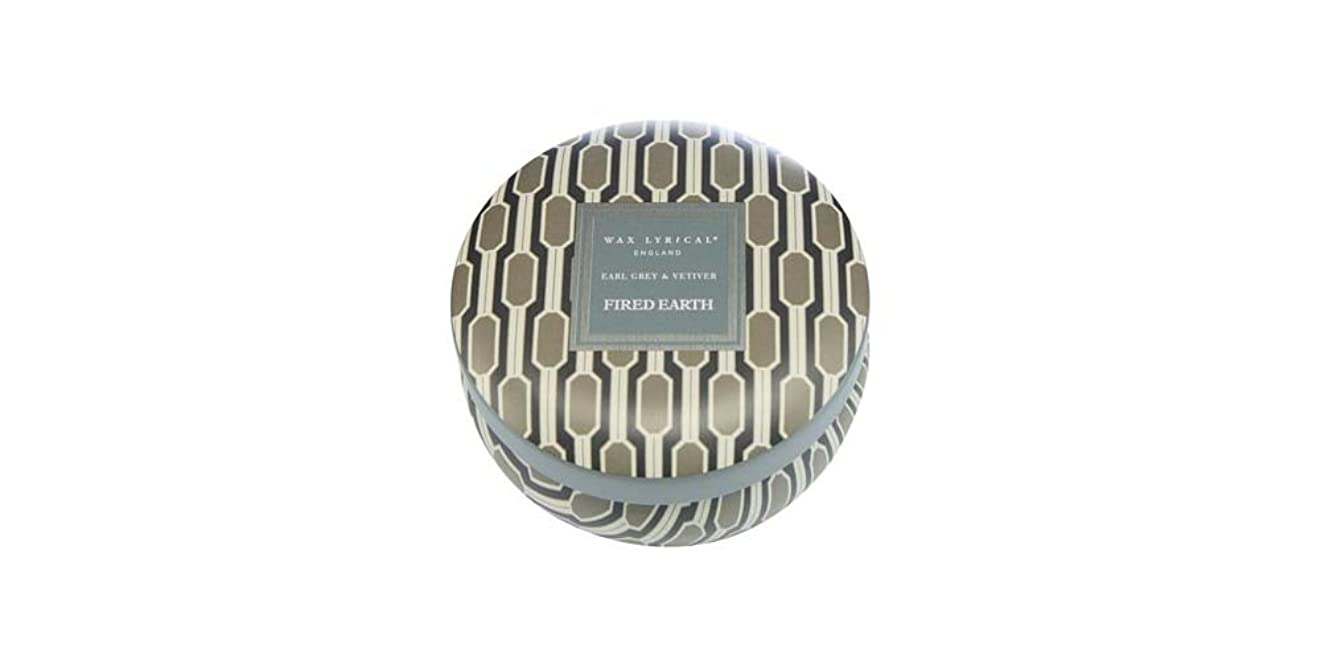 オート満員意図するWAX LYRICAL ENGLAND FIRED EARTH 缶入りキャンドル アールグレー&ベチバー CNFE0807