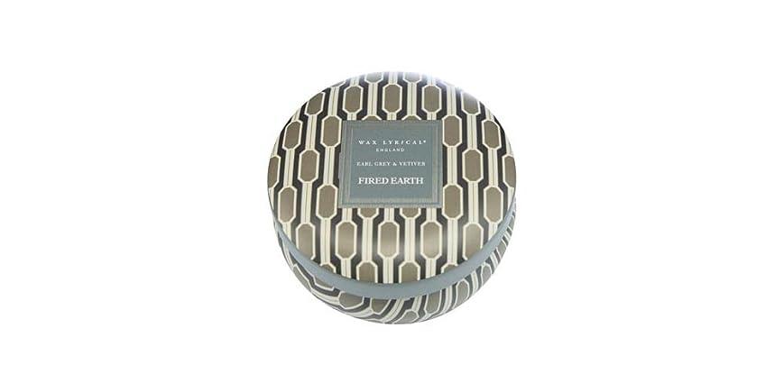 シリングベーシック東WAX LYRICAL ENGLAND FIRED EARTH 缶入りキャンドル アールグレー&ベチバー CNFE0807