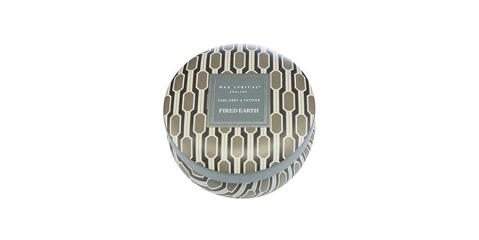 法律遵守するマットWAX LYRICAL ENGLAND FIRED EARTH 缶入りキャンドル アールグレー&ベチバー CNFE0807