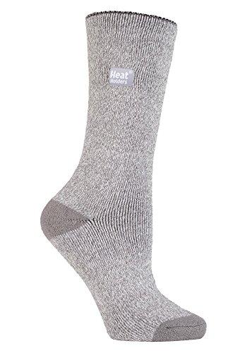 Heat Holders Damen Socken Large, Silber / Creme, Large