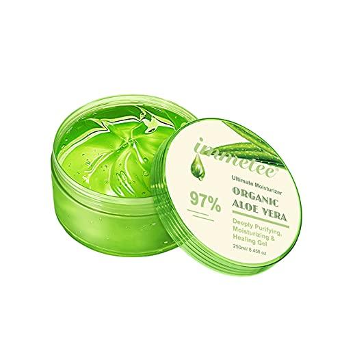 Linahealth Gel Hidratante y Humectante de Aloe Vera al 97%, con extractos naturales, 250g Nutre, refresca y suaviza la piel seca, combate el Acne , para uso después del sol, raspaduras o piquetes 250 gr