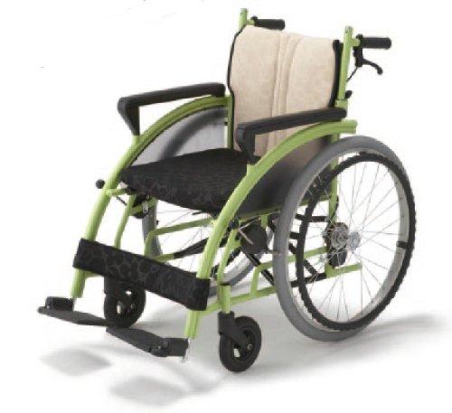 フランスベッド メディカルサービス リハテック シリーズ nomoca (のもか) 車椅子 グリーン色
