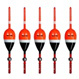 thkfish Fishing Floats and Bobbers Balsa Wood Floats Spring Bobbers with Lead Oval Stick Floats Slip Bobbers for Crappie Panfish Walleyes2'X1.14'X5.86' 5pcs