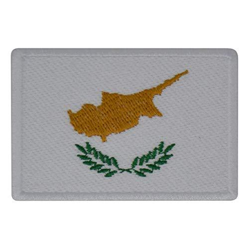 FanShirts4u Aufnäher - ZYPERN - Fahne - 8 x 5,5cm - Bestickt Flagge Patch Badge Wappen CYPRUS (weiße Umrandung)