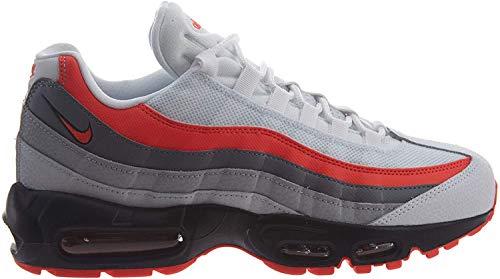 Nike Herren Air Max 95 Essential Gymnastikschuhe, Weiß (White/Bright Crimson/Black/Pur 112), 48.5 EU