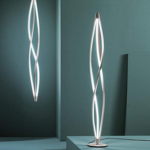QIDOFAN Lámpara de pie Llevada moderna lámpara de pie Lampadaire llevó la lámpara de mesa de la sala de cocina Interior (Body Color : 150cm Neutral Light)