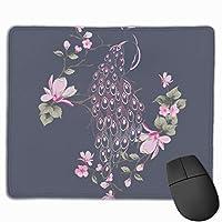 マウスパッド オフィス 最適 抽象 孔雀 花 個性 ピンク ゲーミング 光学式マウス対応 防水性 耐久性 滑り止め 多機能 標準サイズ25cm×30cm