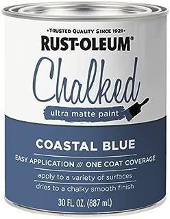 Rust-Oleum 329207 Chalked Ultra Matte Paint, Coastal Blue, 30-oz. - Quantity 2