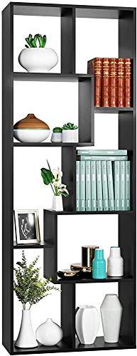 Design elegante e moderno per ufficio, studio, ingresso, l'armadietto di pavimento in legno a parete scaffale libreria,Black