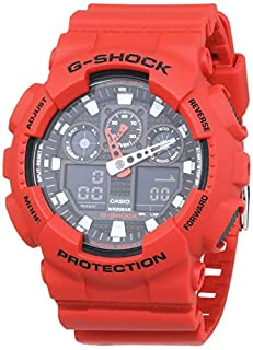 Casio G-SHOCK Reloj Analógico-Digital, 20 BAR, Rojo, para Hombre, GA-100B-4AER (B005FEY8YK) | Amazon price tracker / tracking, Amazon price history charts, Amazon price watches, Amazon price drop alerts